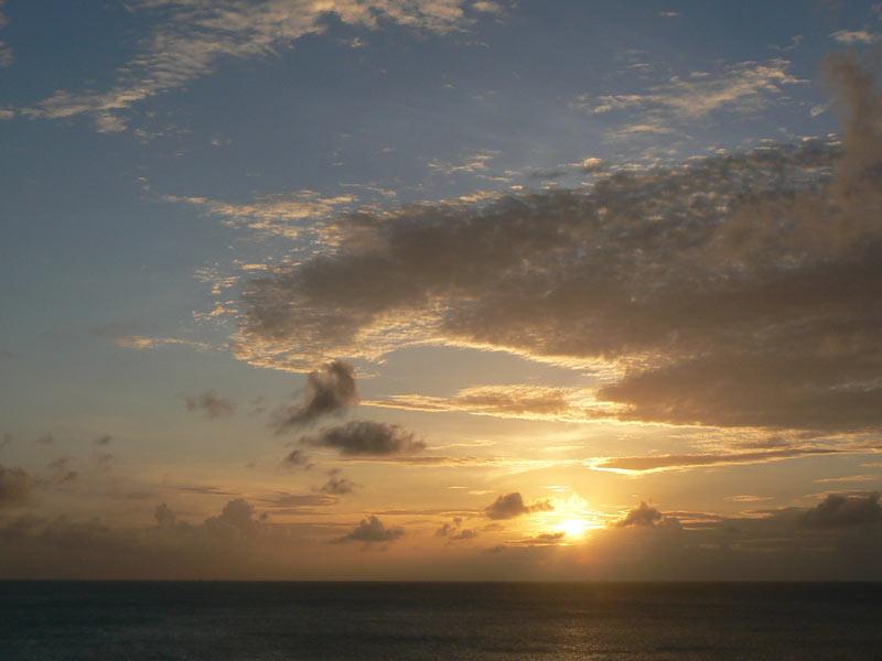Sunset cloud light