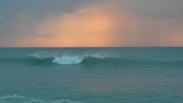 Wave Sunset Winter